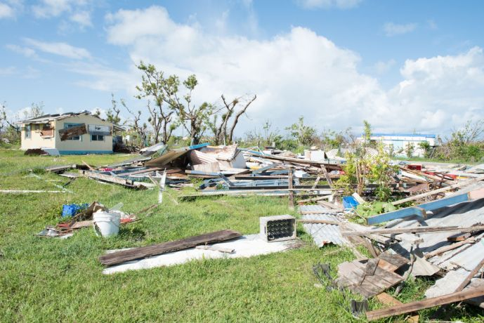 Antigua & Barbuda: St. Johns, Antigua and Barbuda :: Destroyed houses on Barbuda after Hurricane Irma. More Info
