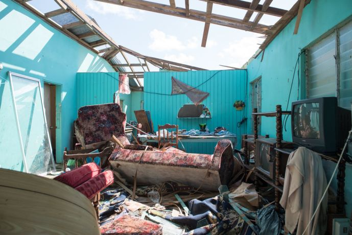 Antigua & Barbuda: St. Johns, Antigua and Barbuda :: A destroyed house on Barbuda after Hurricane Irma. More Info