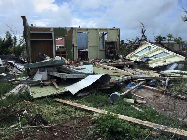 Antigua & Barbuda: St Johns, Antigua and Barbuda :: A destroyed house on Barbuda after Hurricane Irma. More Info