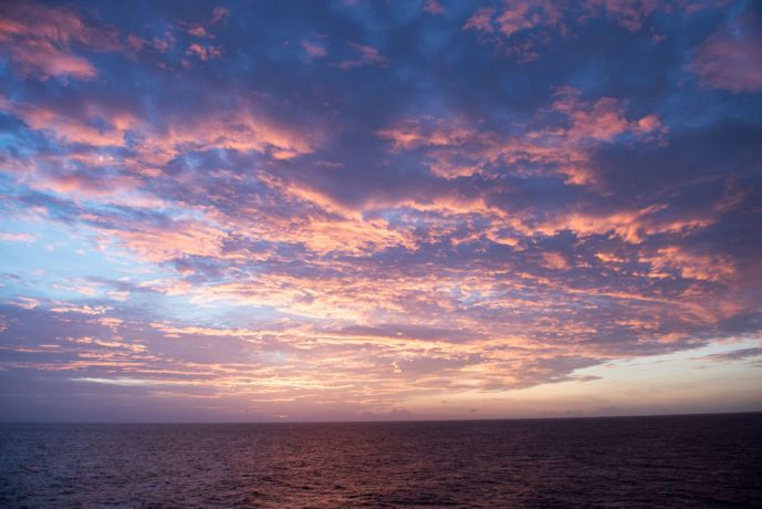 Saint Lucia: Castries, St. Lucia :: View of sunset during a voyage. More Info