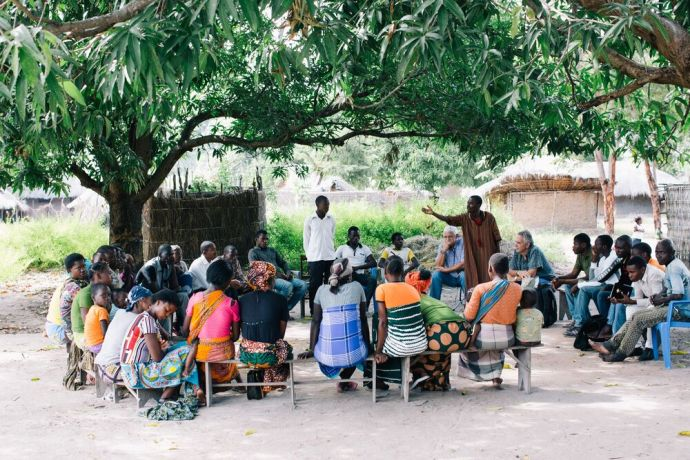 Mozambique: Outdoor evangelism in Mozambique. More Info