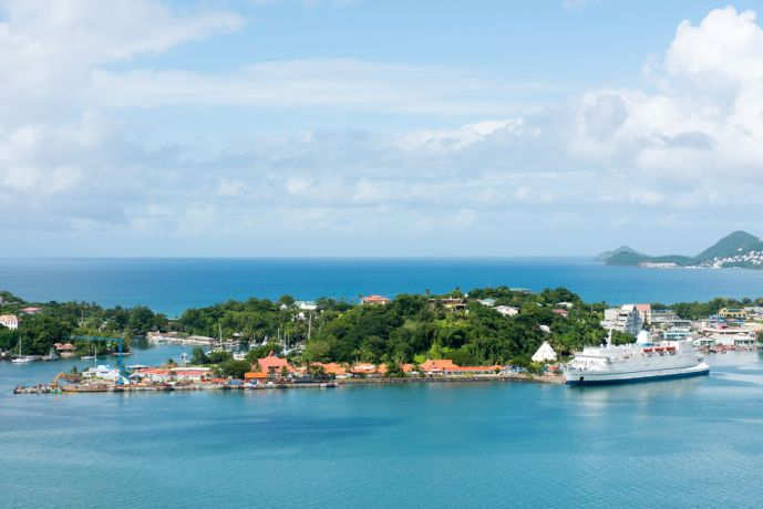 Saint Lucia: Castries, St. Lucia :: Logos Hope at her berth in port. More Info