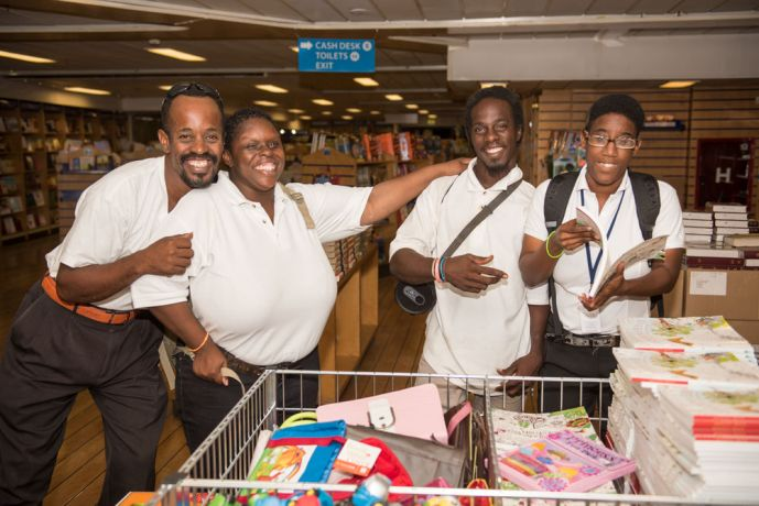 Barbados: Bridgetown, Barbados :: Disabled students smile as they explore the Visitor Experience Deck. More Info
