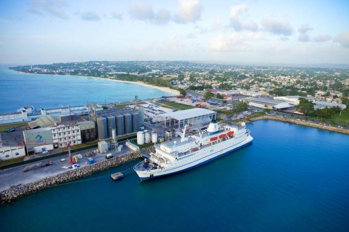 Barbados: Bridgetown, Barbados :: Logos Hope at her berth in port. More Info