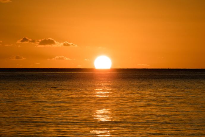 Saint Vincent & the Grenadines: Kingstown, St. Vincent and Grenadines :: Sunset over the sea. More Info
