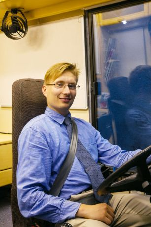 Finland: Esa Tuuri has driven the Bus4Life for four years. More Info