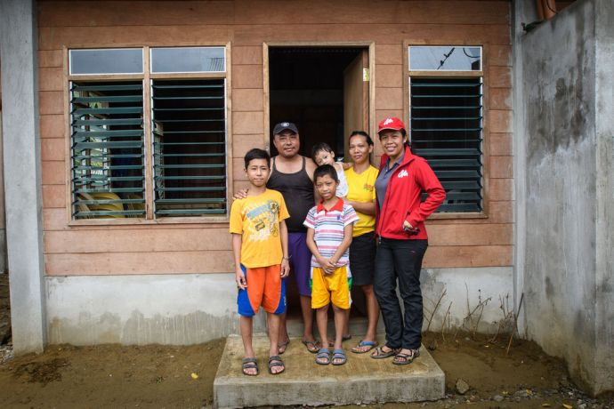 Philippines: New duplex homes donated to sponsor families in. the Philippines after a super typhoon destroyed many of there homes.  Photo by Garrett N More Info