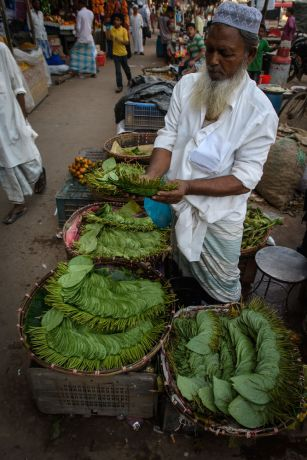 Bangladesh: Betel leaves are commonly chewed as a stimulant throughout South Asia.  Photo by Garrett N More Info