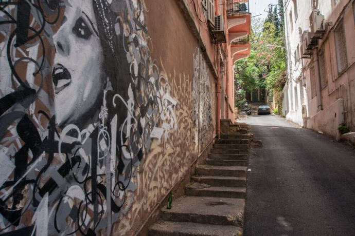 Near East: Street art is an opportunity to speak into the culture of the Middle East.  Photo by Garrett N More Info