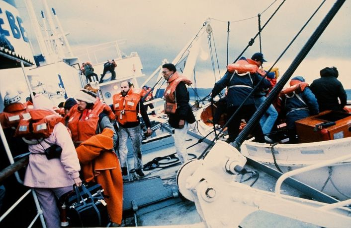 Ships: Logos crew abandons ship on 5 January 1988. More Info
