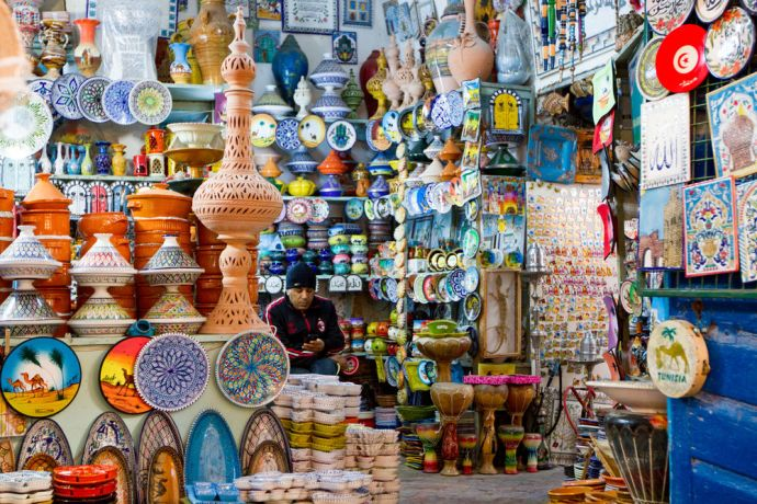 North Africa: Shopkeepers at work. More Info