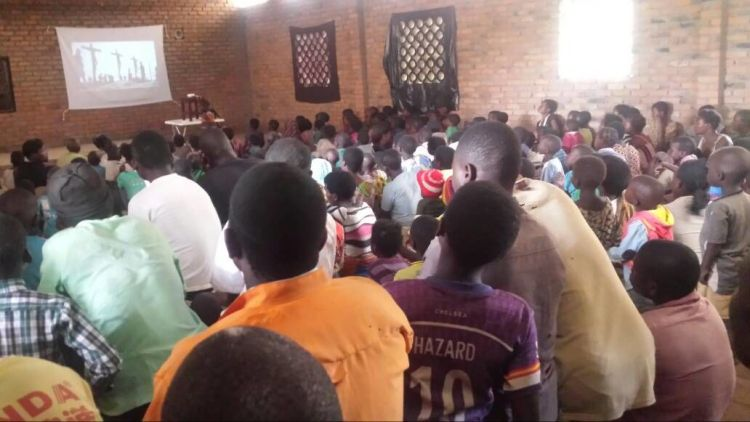 Malawi: The Jesus Film is shown at a church in Malawi. More Info