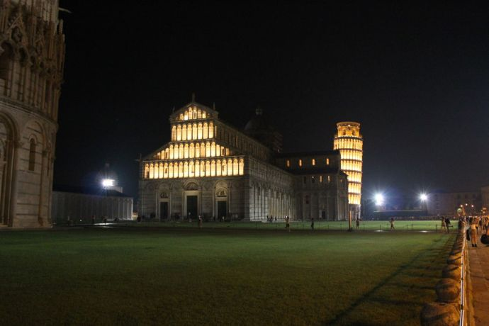 Italy: Piazza dei Miracoli by night, Italy More Info