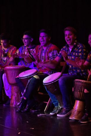 Colombia: Cartagena, Colombia :: The Percussion group performs in an event. More Info