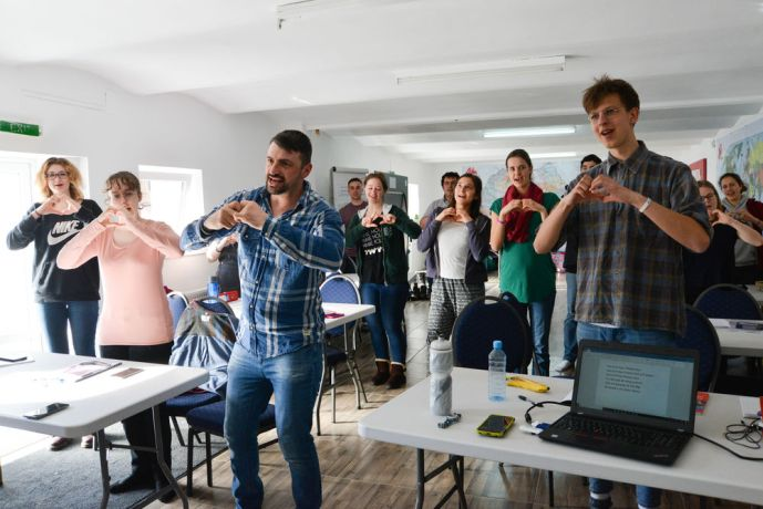 Romania: MDT-e3 participants are learning how to lead children songs More Info
