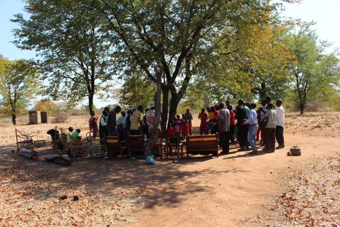 Zimbabwe: Church under a tree More Info
