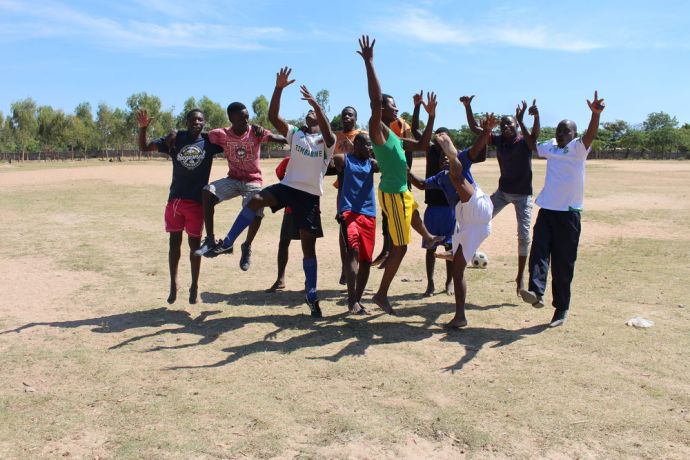 Zimbabwe: A church soccer team is captured  on camera at a OM organized Sports Day to encourage young people to share the gospel using sport. More Info