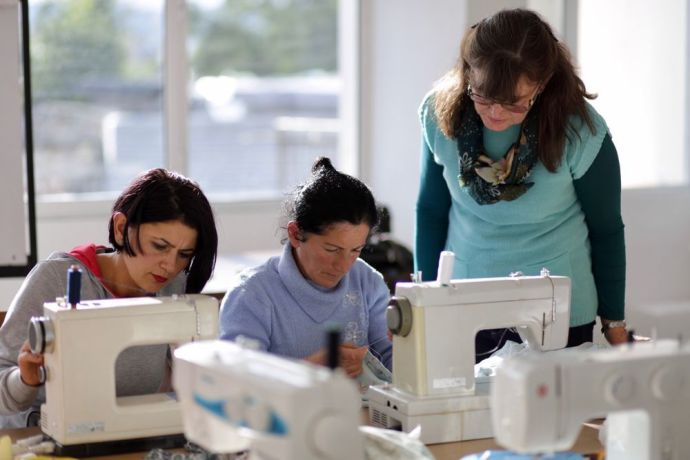 Albania: An OMer trains local Albanian women to sew while also sharing the gospel and leading Bible studies. More Info