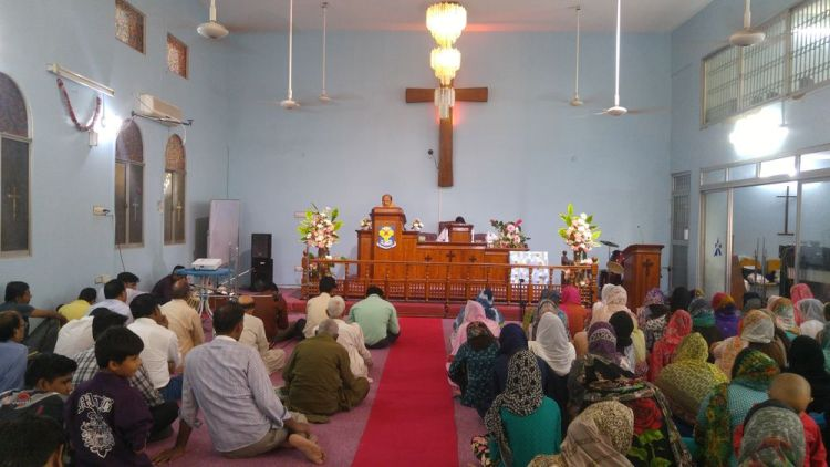 Pakistan: A congregation worshipping in Pakistan. More Info