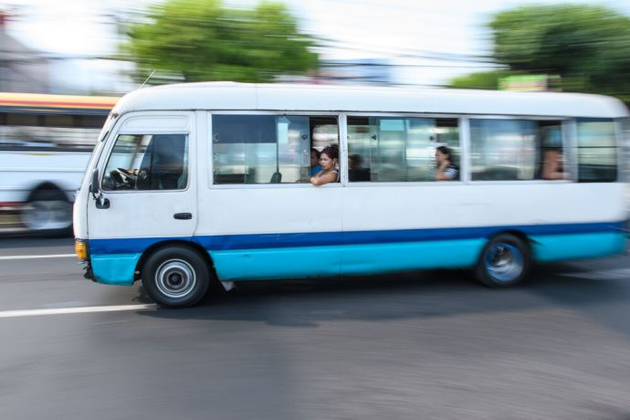 El Salvador: Transportation in El Salvador is fast paced and lively.  Photo by Garrett N More Info