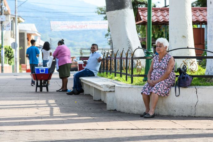 El Salvador: People in Latin America enjoy spending time the afternoon at near by parks.  Photo by Garrett N More Info