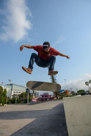El Salvador: Skateboarding is a large part of the culture for Latino youth.  Photo by Garrett N More Info