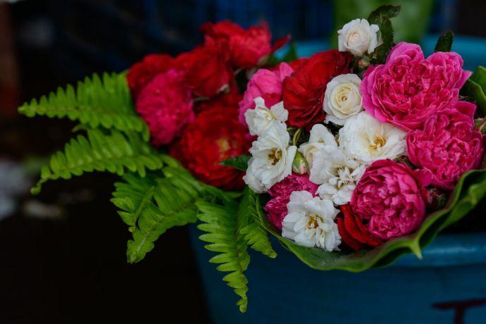 El Salvador: Flowers for sale at a market in El Salvador.  Photo by Garrett N More Info