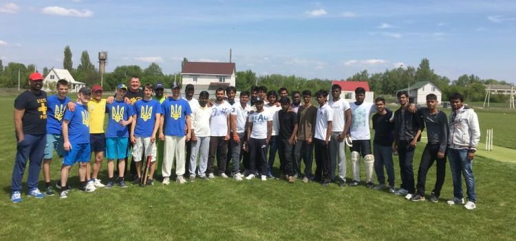 Ukraine: Ukrainians and Indians are ready for a cricket match in Kaharlyk, Ukraine. More Info