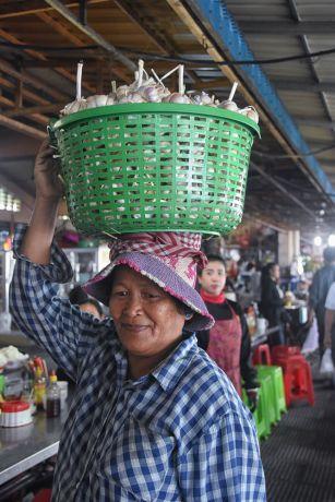 Cambodia: Local in a Cambodian Marketplace. More Info