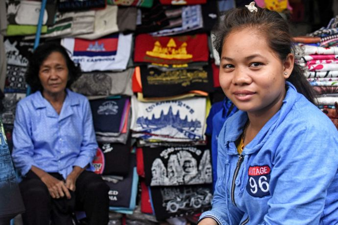 Cambodia: Local in a Cambodian Marketplace. More Info