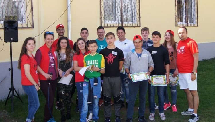 Romania: OMers with the group leaders during the KidsGames in Romania More Info