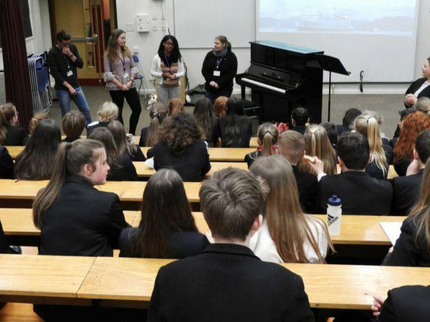 Ireland: Veracruz, Mexico :: Dry dock: The Ireland mobilisation team speaks at a school. More Info