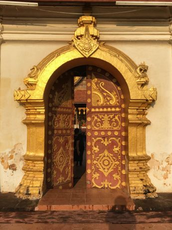 South East Asia: Door into a Buddhist Temple. More Info