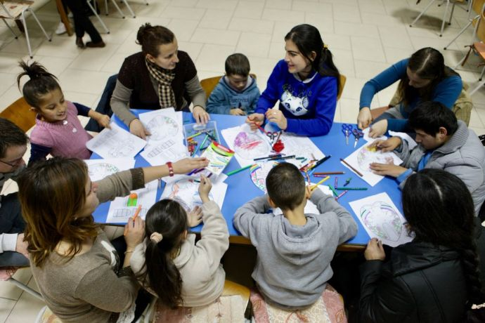 Albania: Its colouring time at the evangelistic programme (Sweet Mess) that OM Albania and a local church run for those with special needs and their families. More Info