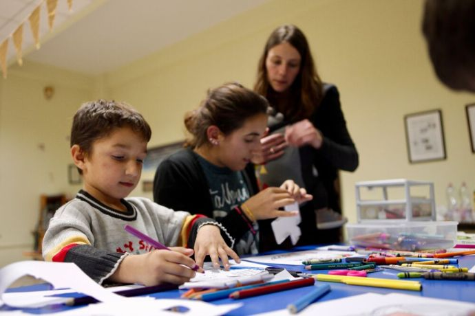 Albania: Its craft time at the evangelistic programme (Sweet Mess) that OM Albania and a local church run for those with special needs and their families. More Info