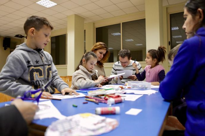 Albania: Craft time at Sweet Mess--the evangelistic programme that OM Albania and a local church run for those with special needs and their families. More Info