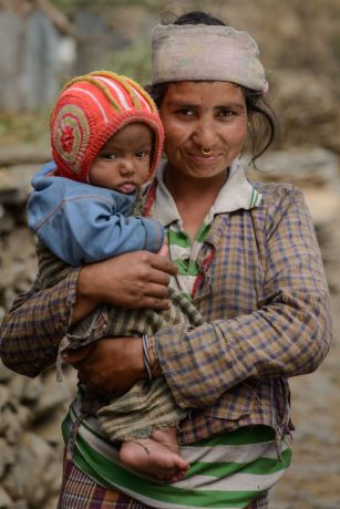 South Asia: Portraits of Nepali women in remote villages of Nepal. More Info