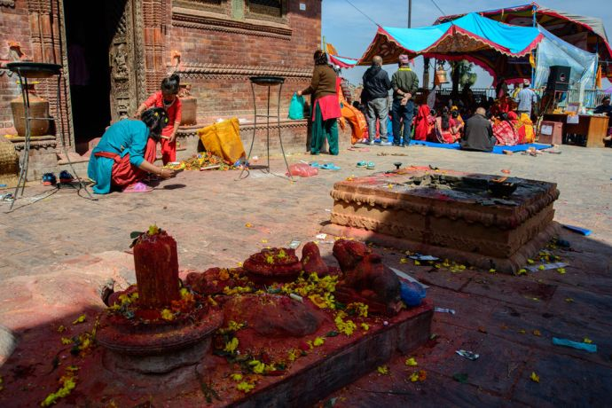 Nepal: Temple worship in Nepal. More Info