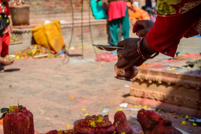 Nepal: Temple worship in Nepal often includes the lighting of candles and incense. More Info