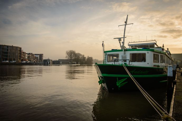 Netherlands: The river boat docked in Delft, Netherlands.  Photo by Garrett N More Info