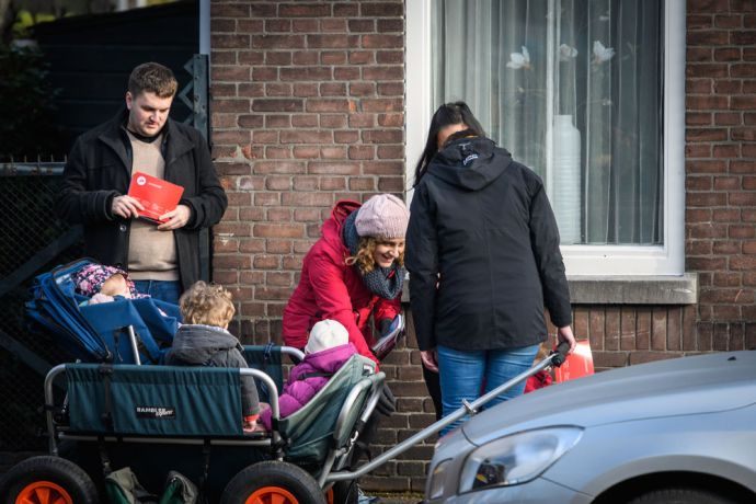 Netherlands: Street ministry and spreading the word about the river boat.  Photo by Garrett N More Info