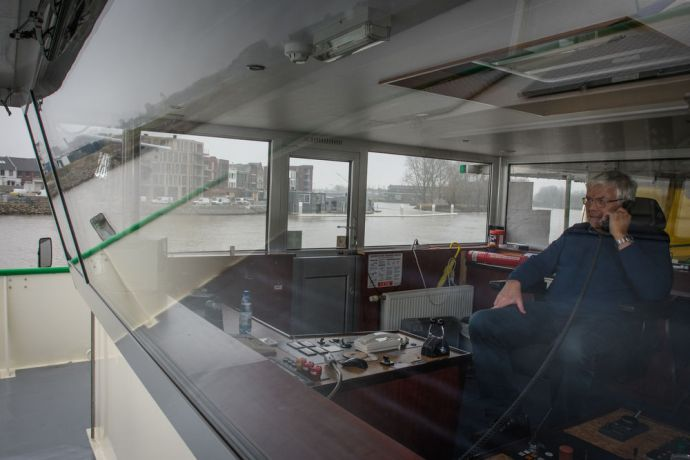 Netherlands: The captain of the river at the helm.  Photo by Garrett N More Info