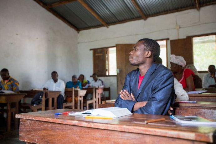 Mozambique: A discipleship class at the training base in Mocuba, Mozambique. More Info