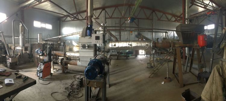 Ukraine: The factory hall in Kaharlyk, where the pyrolysis process converts plastic waste into liquid fuel. More Info