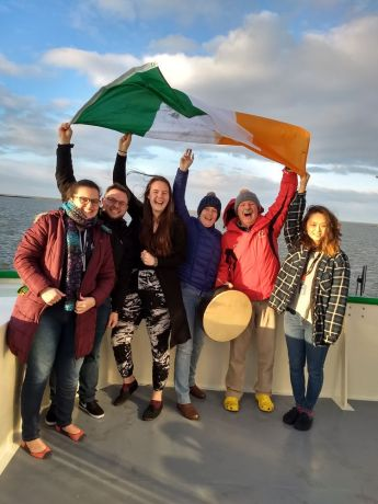 Ireland: Current and former OM Ireland staff serving on the first voyage of the OM Riverboats More Info