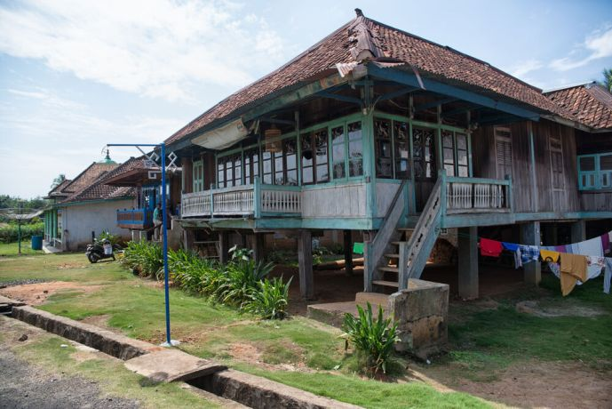 Indonesia: A traditional Indonesian home which is built raised off the ground. More Info