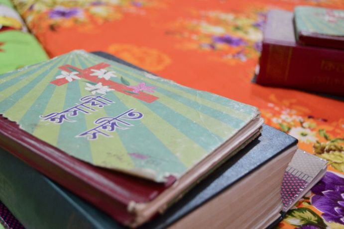 Bangladesh: These songbooks are used by ladies who have been taking part in a residential discipleship programme. They participate in Bible studies as well as tailoring skills training during the three-month program in Bangladesh. More Info