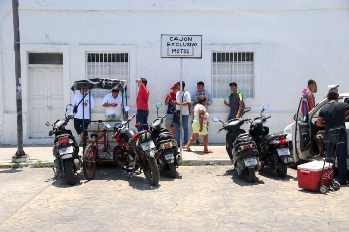 Mexico: Progreso, Mexico :: A motorcycle parking zone. More Info