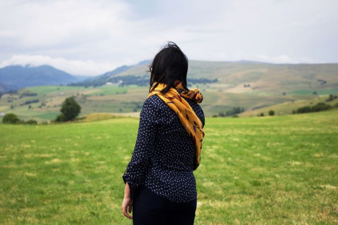 France: A team of eleven individuals distributed gospels of Luke all over Saint-Flour, France. A team member pauses to look over the most unreached area of France. More Info
