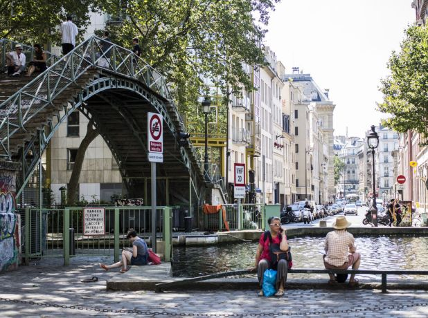 France: A popular place in Paris to sit and chat or a grab a bite to eat and look out onto the canal. More Info